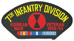 7th Infantry Division Korean War Veteran Patches